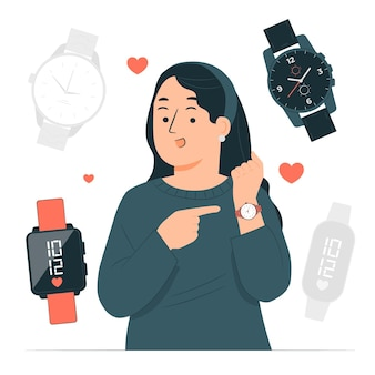 Ilustración del concepto de reloj de pulsera