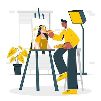 Ilustración del concepto de restaurador