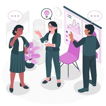 Ilustración de concepto de reunión de pie