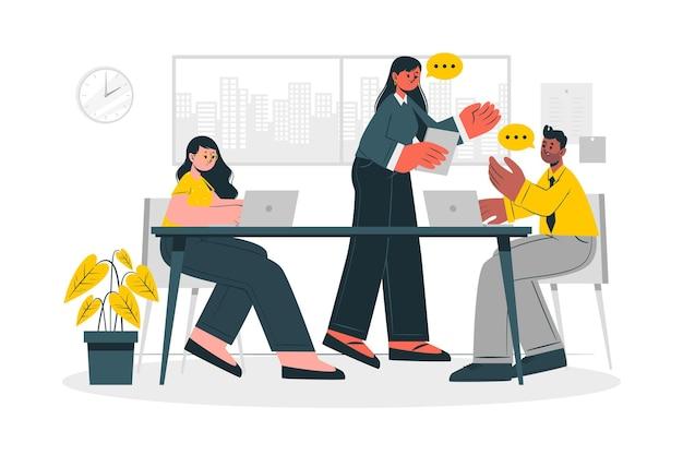 Ilustración del concepto de reunión