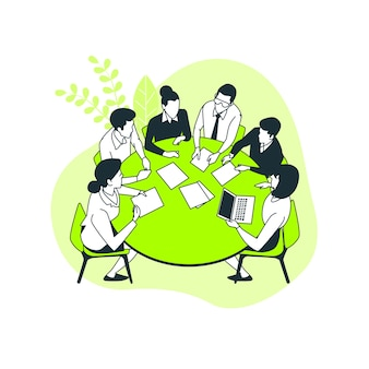 Ilustración de concepto de reunión