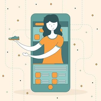 Ilustración del concepto de revisión de blogger