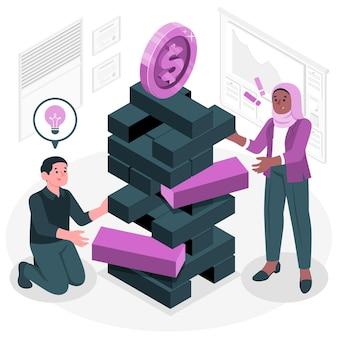 Ilustración del concepto de riesgo empresarial