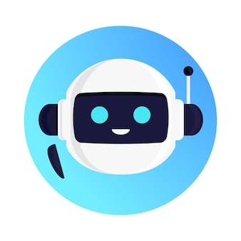 Ilustración de concepto de robot vector chat bot para asistente virtual banner hablar burbuja discurso digital