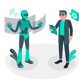 Ilustración del concepto de robótica