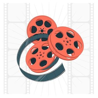 Ilustración de concepto de rollos de película