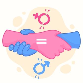 Ilustración del concepto de romper las normas de género