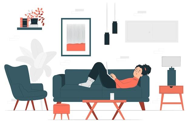 Ilustración del concepto de sala de estar