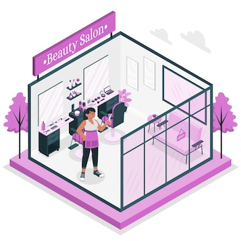 Ilustración de concepto de salón de belleza