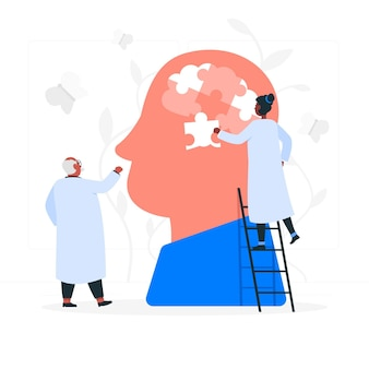 Ilustración del concepto de salud mental