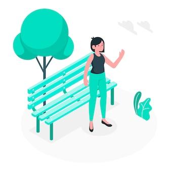 Ilustración de concepto de saludo