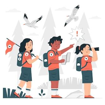 Ilustración del concepto de scouts