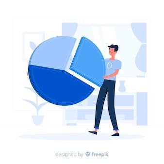 Ilustración del concepto de segmento