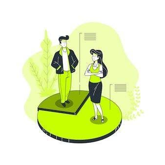 Ilustración de concepto de segmento