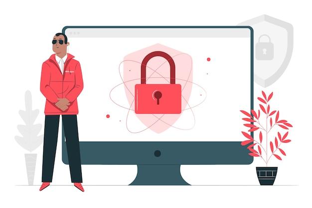 Ilustración del concepto de seguridad