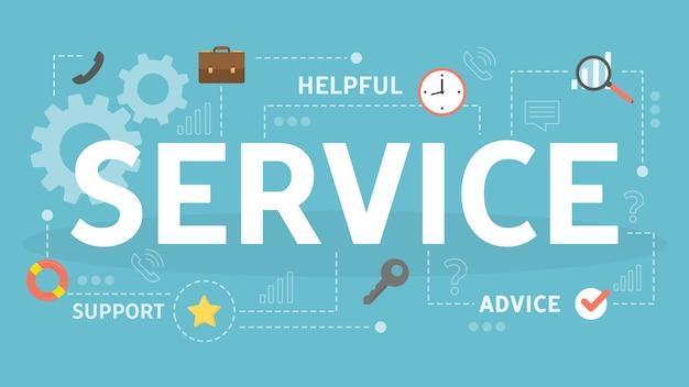 Ilustración del concepto de servicio