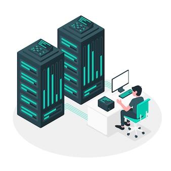 Ilustración del concepto de servidor
