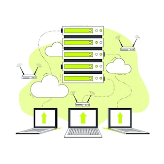 Ilustración de concepto de servidor