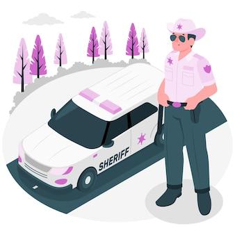 Ilustración del concepto de sheriff