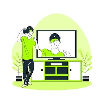 Ilustración de concepto de sincronización a tiempo real