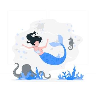 Ilustración del concepto de sirena