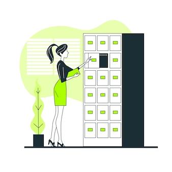Ilustración del concepto de sistema de archivo