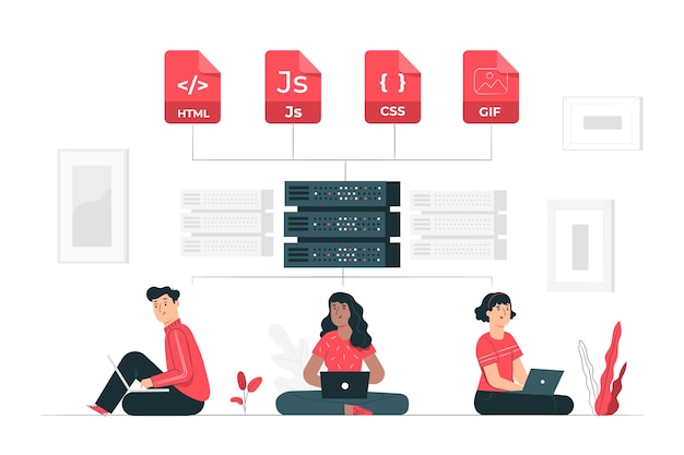 Ilustración de concepto sistema de organización