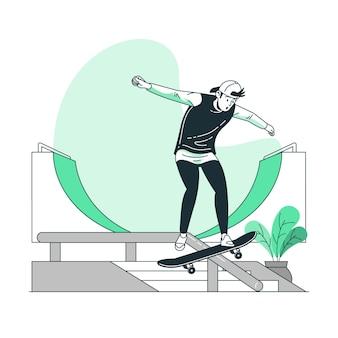 Ilustración del concepto de skate