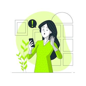 Ilustración del concepto de sobresaltado