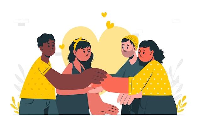 Ilustración del concepto de solidaridad