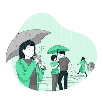 Ilustración del concepto de solteros