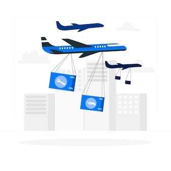 Ilustración del concepto de soporte aéreo