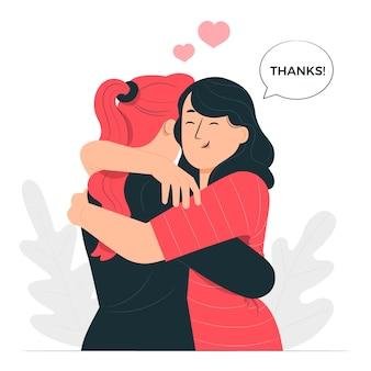Ilustración del concepto de super gracias
