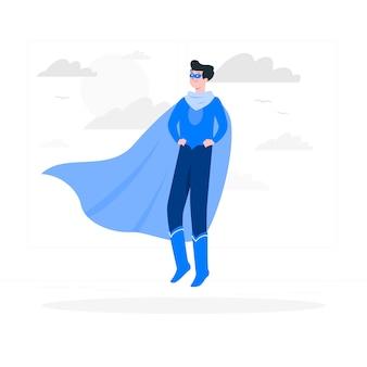 Ilustración de concepto de superhéroe