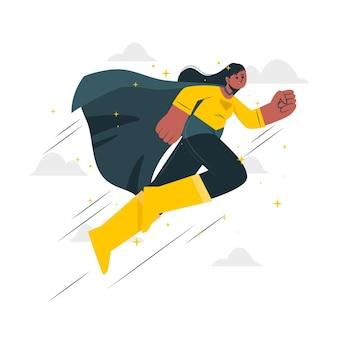 Ilustración del concepto de superhéroe