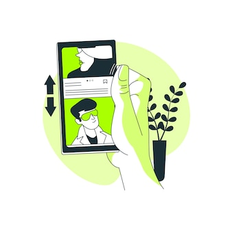 Ilustración de concepto de swipe profiles