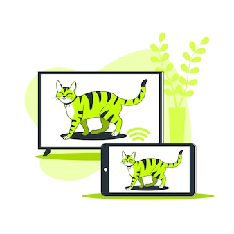 Ilustración de concepto de sync