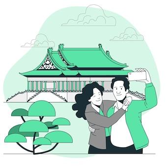 Ilustración del concepto de taipei