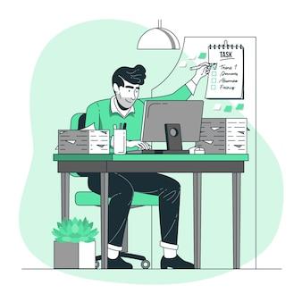 Ilustración del concepto de tarea