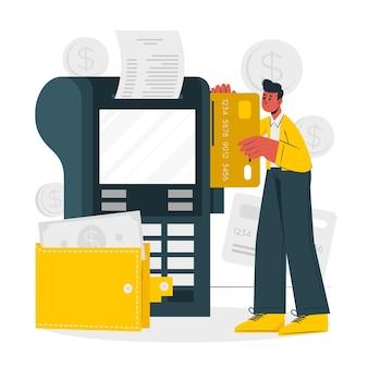 Ilustración de concepto de tarjeta de crédito simple