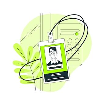 Ilustración del concepto de tarjeta de identificación