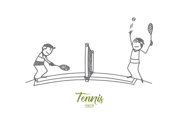 Ilustración del concepto de tenis