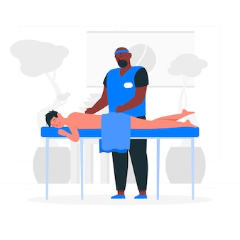 Ilustración de concepto de terapeuta de masaje