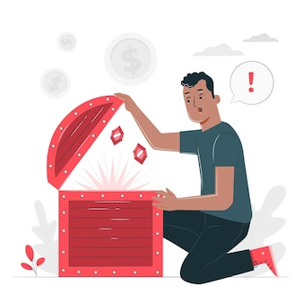 Ilustración del concepto de tesoro