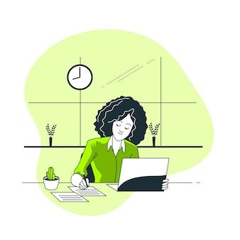 Ilustración del concepto de tiempo de trabajo