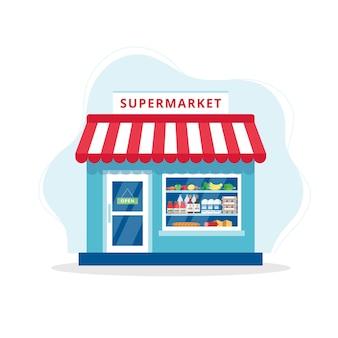Ilustración de concepto de tienda de comestibles