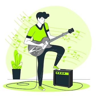 Ilustración del concepto de tocando música