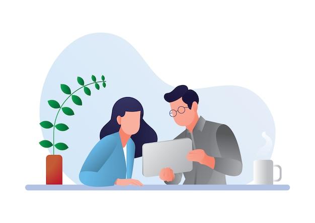 Ilustración de concepto de trabajo en equipo premium gratis