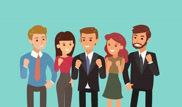 Ilustración de concepto de trabajo en equipo y unidad.