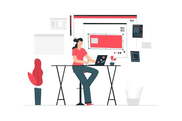 Ilustración del concepto de trabajo